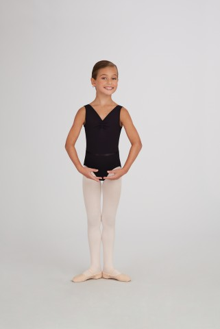 Capezio TC0002C V-neck pinch front leotard w/belt